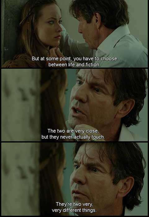 The words movie quotes, escapematter