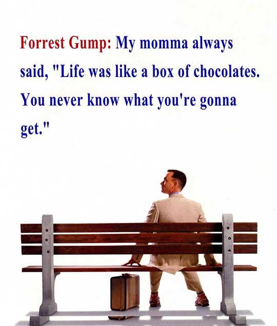 forrest gump movie quotes, escapematter